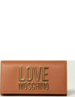 Love Moschino wallet in synthetic leather with logo