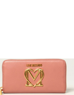 Love Moschino continental wallet in synthetic leather with logo
