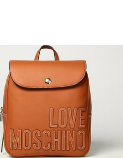Love Moschino backpack in twotone synthetic leather with logo