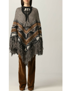 Etro poncho in patterned Alpaca blend
