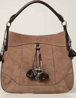 Etro tote bag in suede and leather