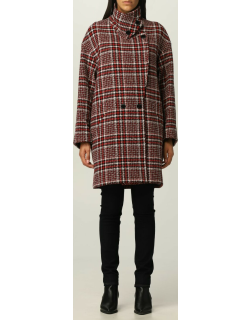 Love Moschino coat in check wool blend