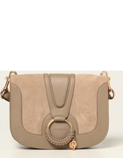 Hana See By Chloé bag in grained leather and suede