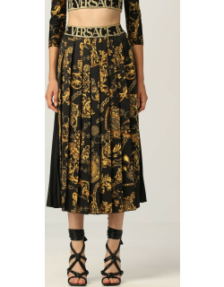 Versace Jeans Couture pleated midi skirt