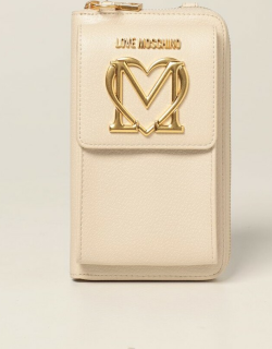 Love Moschino shoulder wallet in synthetic leather with logo