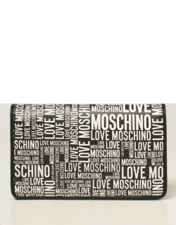Love Moschino shoulder bag with logo all over