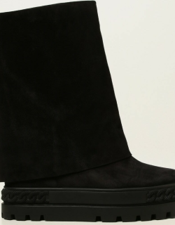 Casadei sneakers ankle boots in suede with turnup