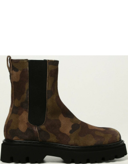 Casadei Undercover ankle boots in camouflage suede