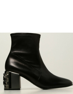 Casadei slip on boots in nappa leather