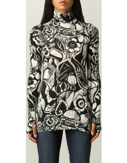 Sportmax turtleneck with floral graphic print