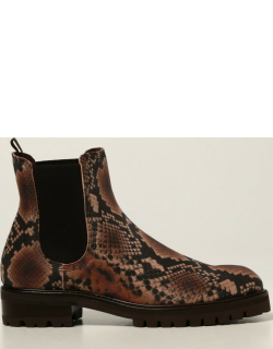 Pedro Garcia ankle boots in suede with python print