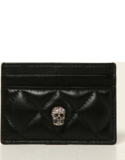 Alexander McQueen credit card holder in quilted leather