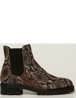 Silvia Pedro Garcia ankle boots in suede with python print