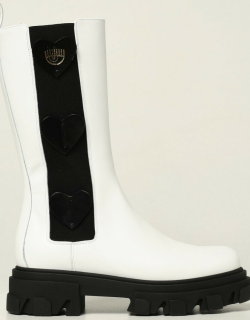 Chiara Ferragni Hearts boots in leather with applied hearts