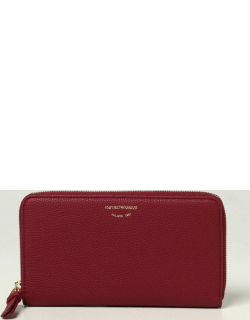 Emporio Armani wallet in grained synthetic leather