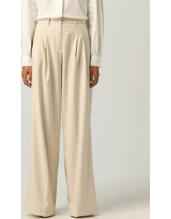 Trousers MYTHS Women colour Yellow Cream
