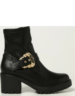 Versace Jeans Couture ankle boots in smooth synthetic leather