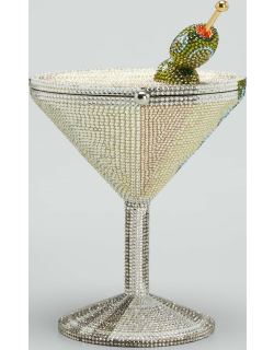 Beaded Martini Glass Cocktail Clutch