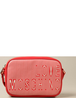 Love Moschino shoulder bag in canvas and synthetic leather