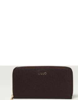 Liu Jo wallet in grained synthetic leather with logo