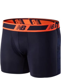 New Balance Men's NB Dry 6 Inch Boxer Brief 2 Pack