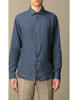 Z Zegna linen shirt with French collar