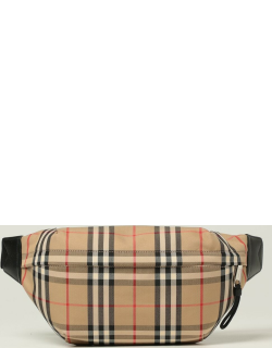 Burberry belt bag in check cotton canvas