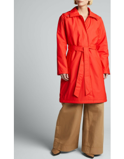 W Trench Coat with Quilted Lining