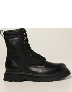 Prada ankle boots in leather and Renylon