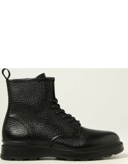 Woolrich ankle boot in large grain leather