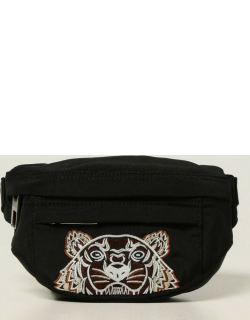 Kenzo pouch in technical canvas with embroidered tiger