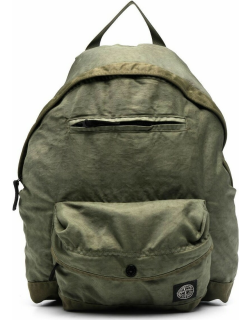 Stone Island Junior compass-patch backpack