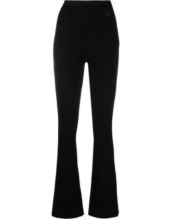 Courrèges logo-embroidered ribbed-knit flares