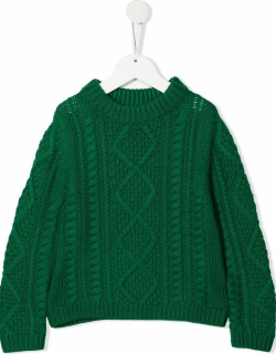 Bonpoint cable-knit ribbed-trim jumper