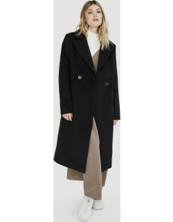 Sloane womens maxi faux wool double breasted coat