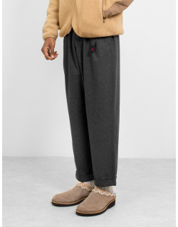 Gramicci Wool Blend Tuck Tapered Pants Heather Charcoal