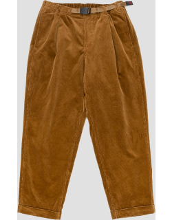 Gramicci Corduroy Tuck Tapered Pants Camel