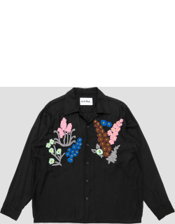 Noma t.d Floral Embroidery Shirt Black