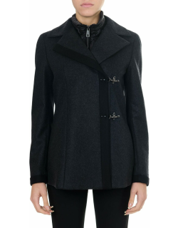 Fay Blue Wool And Cashmere Double Breast Coat