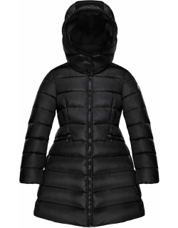 Charpal Long Puffer Coat with Detachable Hood,