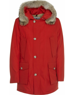 Woolrich Red Multi-pocket Arctic Parka