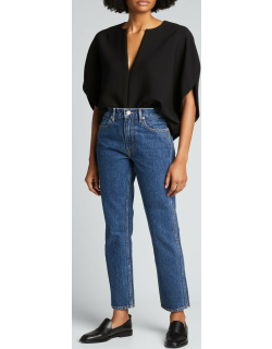 Virginia High-Rise Slim Tapered Jeans