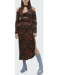 Two-Layer Floral Cutout Dress