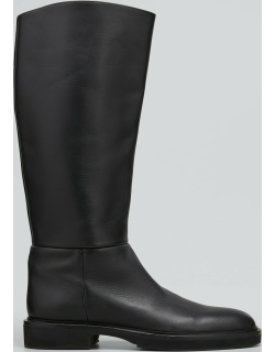 Derby Leather Knee Riding Boots
