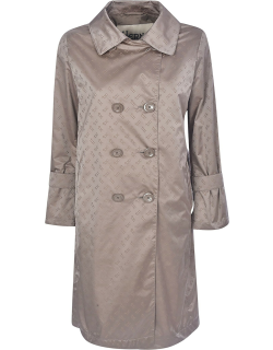Herno All-over Logo Print Trench