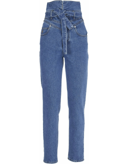 The Attico High-waisted Jeans With Belt