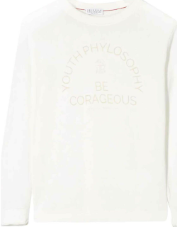 Brunello Cucinelli White Shirt With Frontal Press
