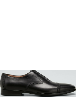 Men's Saddle Leather Oxford Shoes