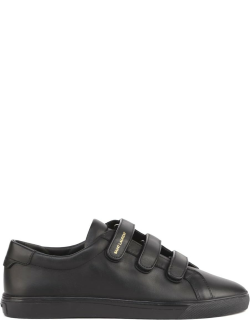 Saint Laurent Andy Sneakers In Black Leather
