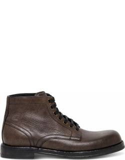 Dolce & Gabbana Lace-up Leather Boots